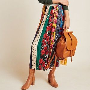 Spirited Patchwork Wide-Leg Pants